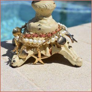 Seashell Pendant Bracelet